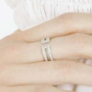 Bague Ariane en or blanc et diamants