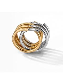 Bague Spirale en or jaune et argent